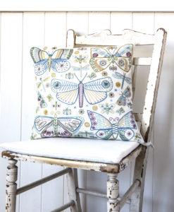 Butterflies cushion on chair