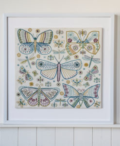Butterflies sampler in frame