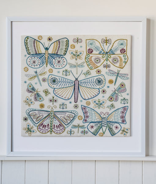 Butterflies sampler in frame