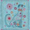 dog embroidery pattern flat shot