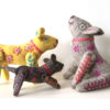 group of dog toys