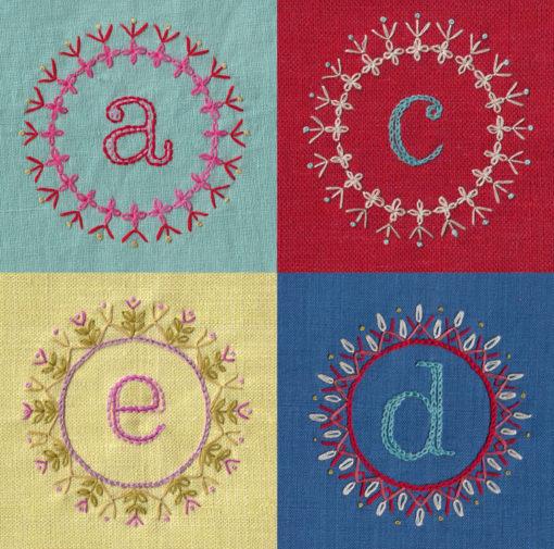 Decorate alphabet four letters