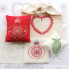 Iron on embroidery transfer for Christmas motifs
