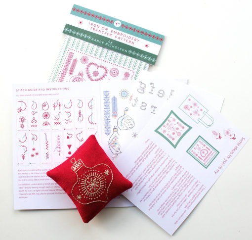 Christmas motif pack contents