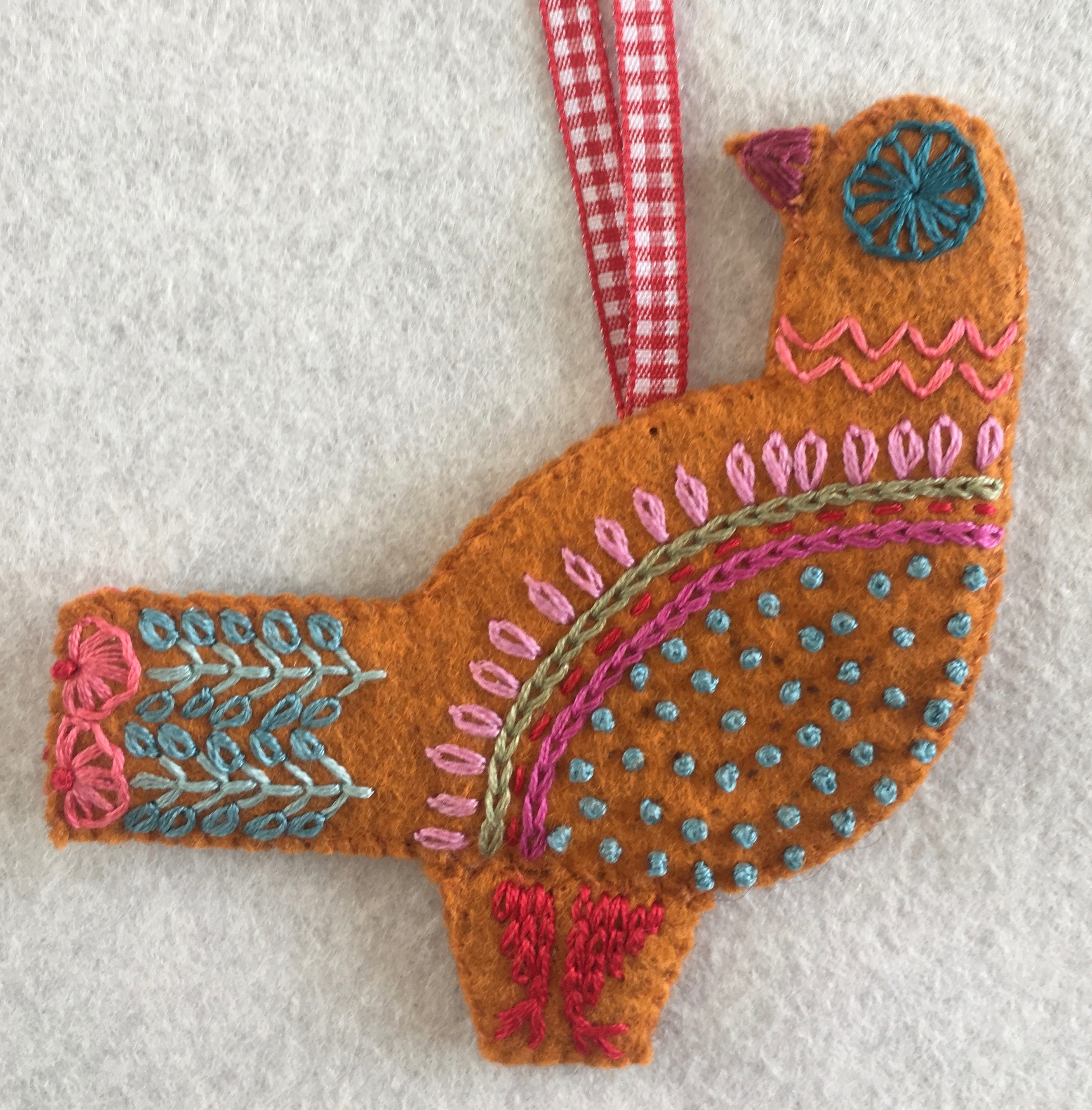 Needlepoint pattern FRENCH HEN