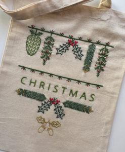 Christmas Sprigs embroidery kit