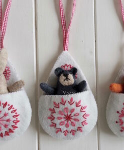 Rabbit, Bear, Cat in Pouches #1