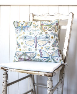 Butterflies cushion on chair