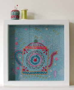 framed teapot sampler