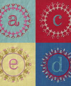 Decorate alphabet four letters