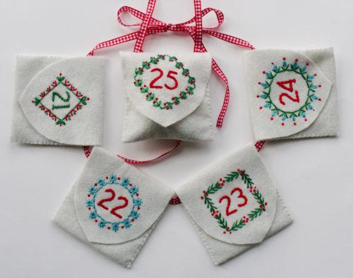 advent calendar five pockets