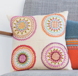 Basic Hand Embroidery using wools with Nancy Nicholson