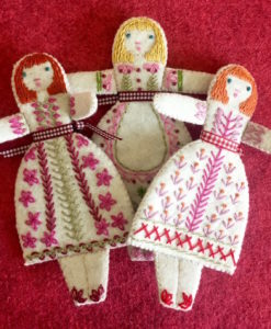 Three Folk Dolls embroidery kit